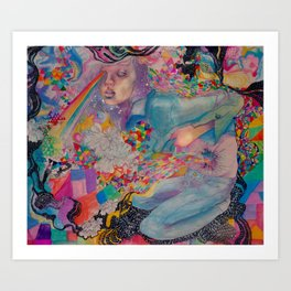 let it all out Art Print