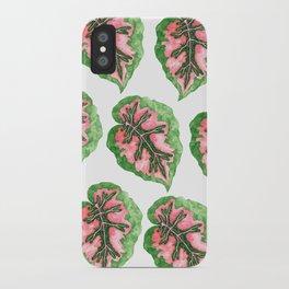 Begonia Leaf Pattern iPhone Case