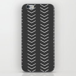 Mudcloth Black white arrows iPhone Skin