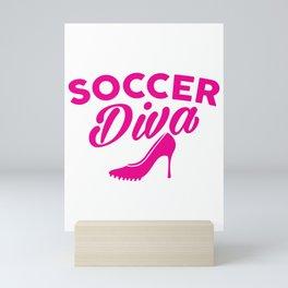 Cute Soccer Diva Cleat & Heels Mini Art Print