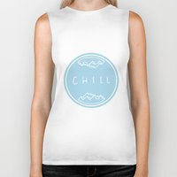 chill Biker Tanks featuring Chill by ma93