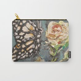 Butterfly on Rose Carry-All Pouch