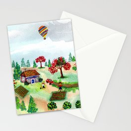 A Scarecrow in the Garden Stationery Cards