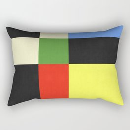 Geometric and colorful abstract I Rectangular Pillow