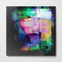 Colorful Cases Collage Metal Print