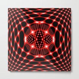 Neon red glob fractal Metal Print