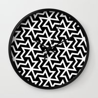 arabic Wall Clocks featuring Arabic by Patterns and Textures