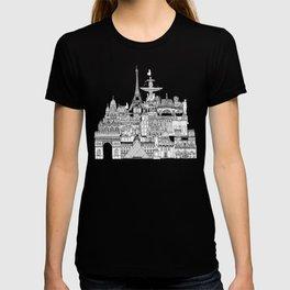 Paris toile raspberry T-shirt