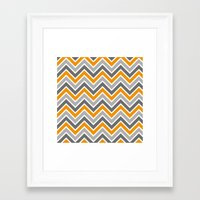 chevron Framed Art Prints featuring Chevron by eARTh