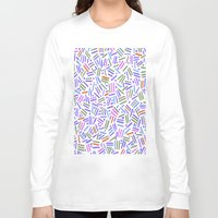 confetti Long Sleeve T-shirts featuring spring confetti by Ariadne