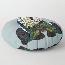 panda silver Floor Pillow