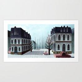 Winter Street Art Print