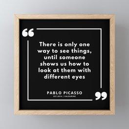 34 |  Pablo Picasso Quotes | 190829 Framed Mini Art Print