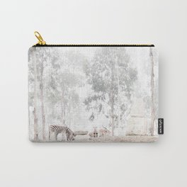 Zebras - through the mist Carry-All Pouch