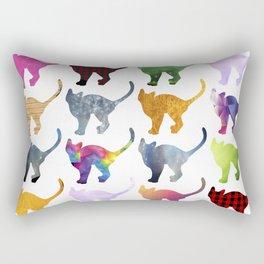 CATS, Rainbow Rectangular Pillow
