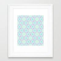 arabic Framed Art Prints featuring Arabic pattern by tuditees