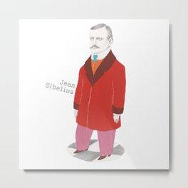 Jean Sibelius Metal Print