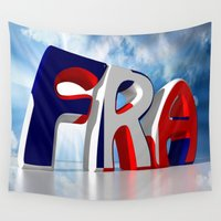 france Wall Tapestries featuring France by Carlo Toffolo
