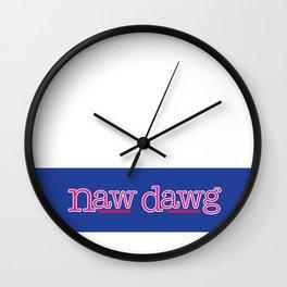 Naw Dawg Blue Stripe Wall Clock