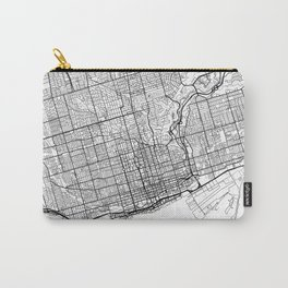 Toronto Map White Carry-All Pouch