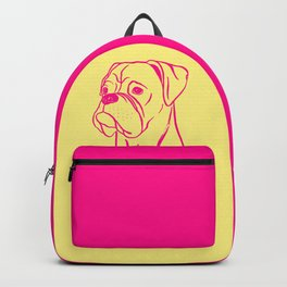 Boxer (Yellow and Hot Pink) Backpack