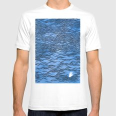 Man & Nature - The Dangerous Sea White MEDIUM Mens Fitted Tee