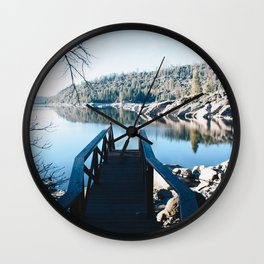 Bridge to Tahoe Wall Clock