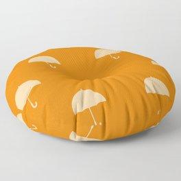 Orange  umbrellas Floor Pillow