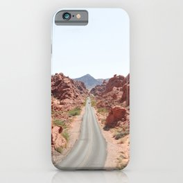 Roads Of Nevada Desert Picture | Valley Of Fire State Park Art Print | USA Travel Photography iPhone Case