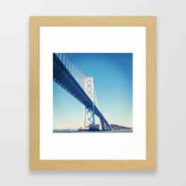 south side, bay bridge Framed Art Print