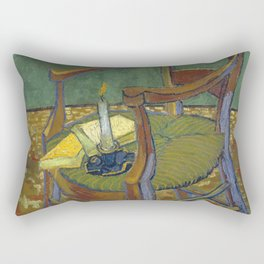 Vincent van Gogh -   Gauguin's Chair, 1888 Rectangular Pillow
