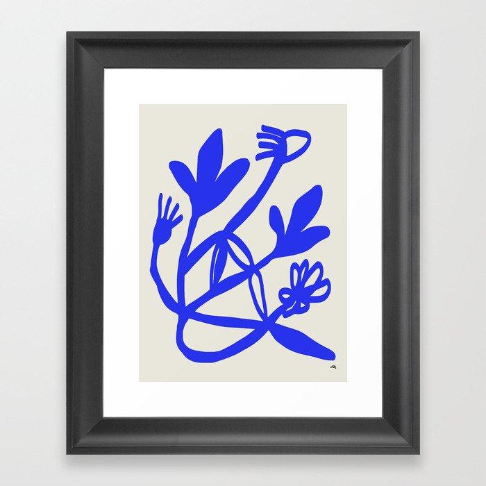 Blue flowers Gerahmter Kunstdruck