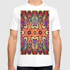 Flower Power Mens Fitted Tee White MEDIUM