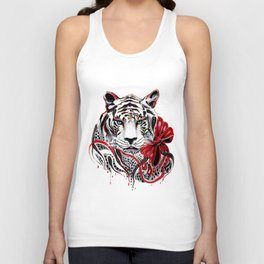 White Tiger Unisex Tank Top