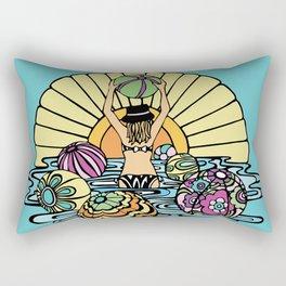 Summer Fun Beach Ballin'  Rectangular Pillow