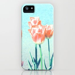 Red Tulips in sweet harmony iPhone Case