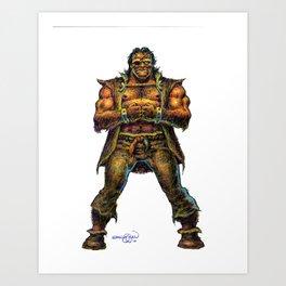 Farc the Half Ogre Art Print