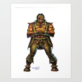 Farc the Half Ogre Art Print