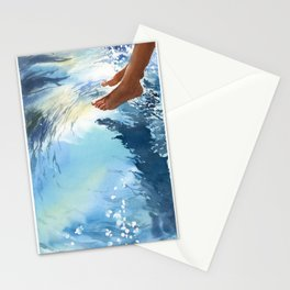 Legs over the water Stationery Cards