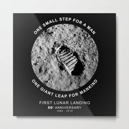 Apollo 11-50th Anniversary 1969-2019,Lunar Landing,Moon.Space Metal Print