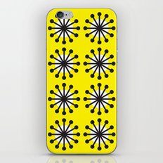 Yellow sunburst iPhone Skin