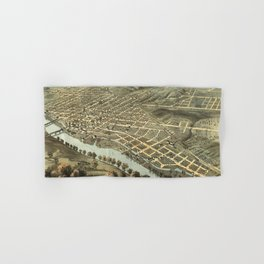 Vintage Pictorial Map of Lafayette Indiana (1868) Hand & Bath Towel