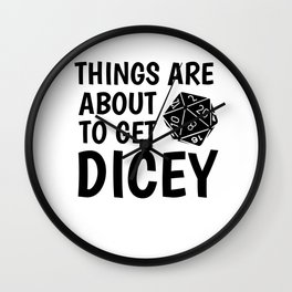 Gamer Dice Dungeon RPG Tabletop funny gift Wall Clock