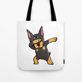 Funny Dabbing Doberman Pinscher Dog Dab Dance Tote Bag