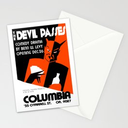 The Devil Passes Stationery Cards