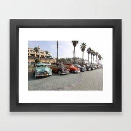 Beach Woodys Cars  Framed Art Print
