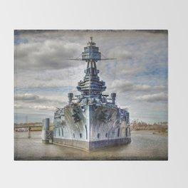 USS Texas Throw Blanket
