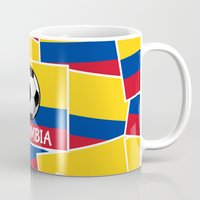 football Mugs featuring Colombia Football by mailboxdisco