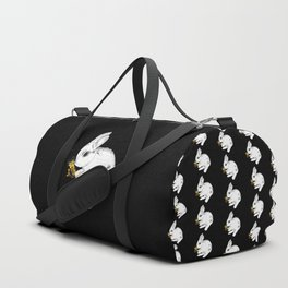 Some'bunny' Loves You (Single Bunny/Black) Duffle Bag