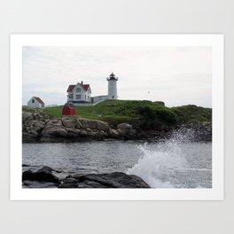 Nubble Lighthouse Art Print